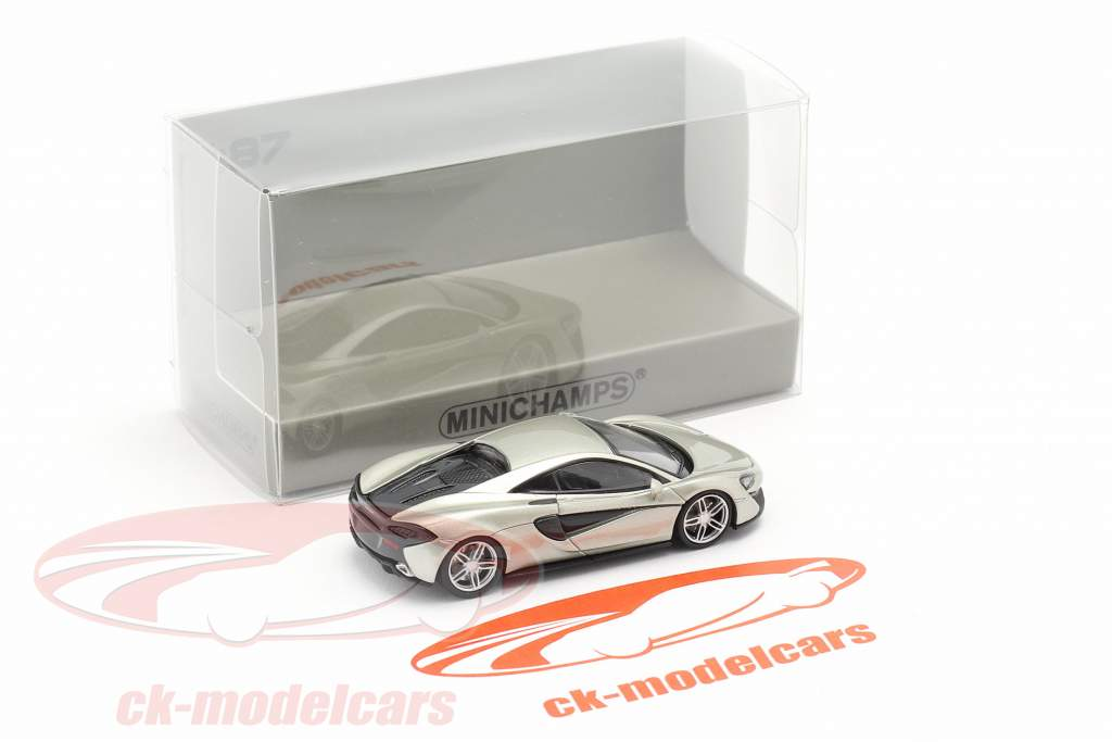 McLaren 570 S year 2016 silver 1:87 Minichamps