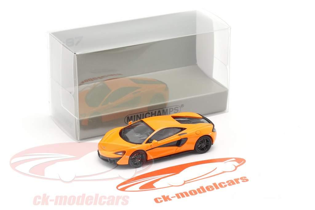 McLaren 570 S Byggeår 2016 orange 1:87 Minichamps