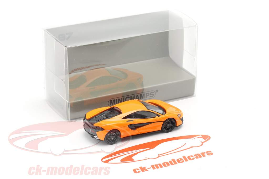 McLaren 570 S Ano de construção 2016 laranja 1:87 Minichamps