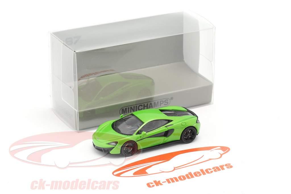 McLaren 570 S Année de construction 2016 vert 1:87 Minichamps