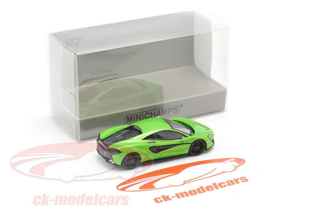McLaren 570 S year 2016 green 1:87 Minichamps