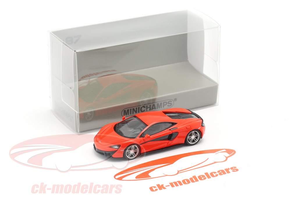 McLaren 570 S year 2016 red 1:87 Minichamps