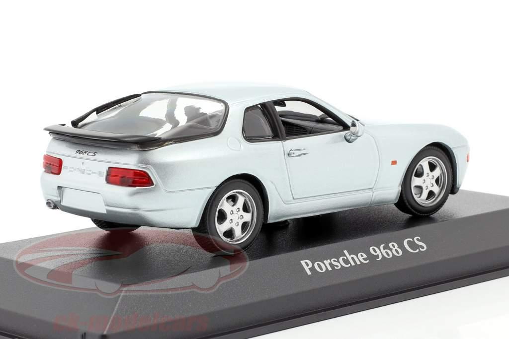 Porsche 968 CS year 1993 silver metallic 1:43 Minichamps