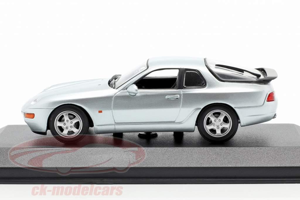 Porsche 968 CS Baujahr 1993 silber metallic 1:43 Minichamps