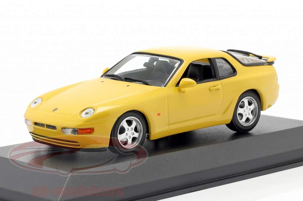 Porsche 968 CS Baujahr 1993 gelb 1:43 Minichamps