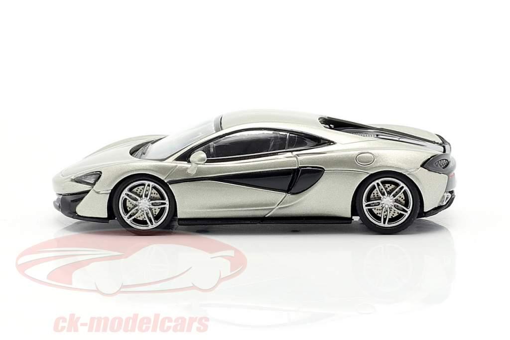McLaren 570 S Ano de construção 2016 prata 1:87 Minichamps