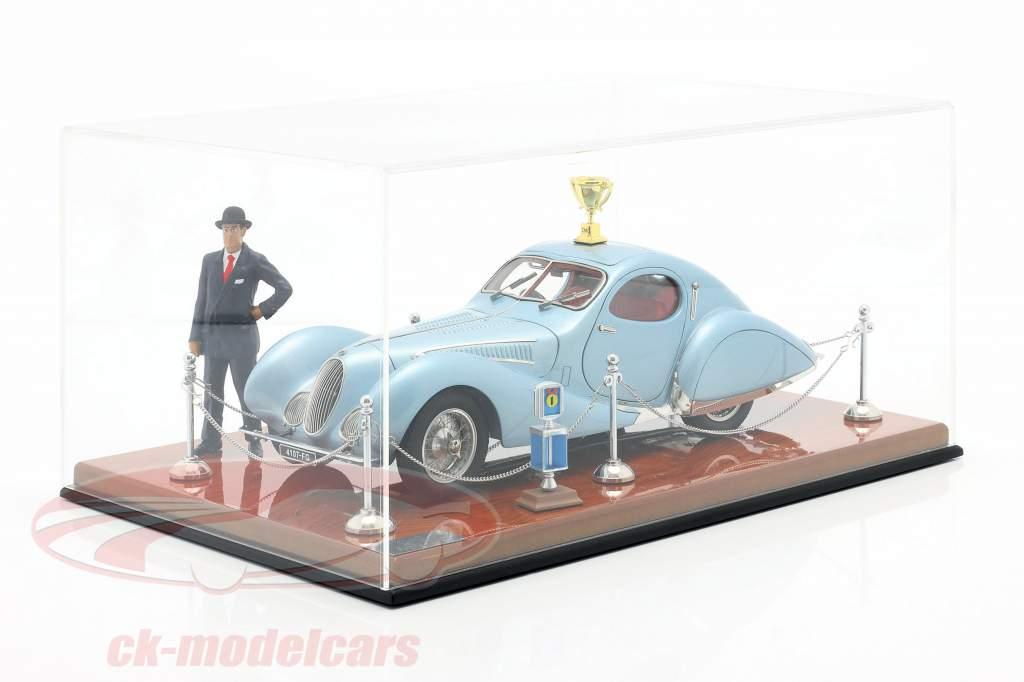 Exhibition Showcase Talbot-Lago Coupe T150 C-SS hellblau metallic 1:18 CMC