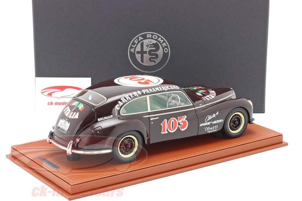 Alfa Romeo 6C 2500 Freccia D'oro #103 Carrera Panamericana 1950 Avec Vitrine 1:18 BBR