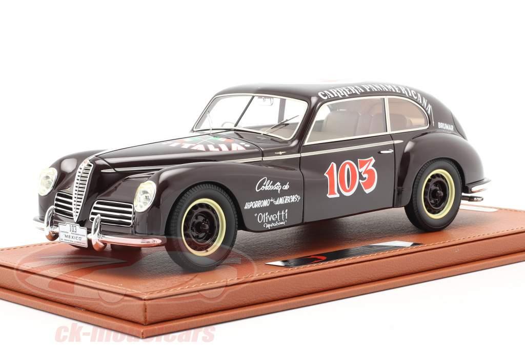 Alfa Romeo 6C 2500 Freccia D'oro #103 Carrera Panamericana 1950 Con Escaparate 1:18 BBR