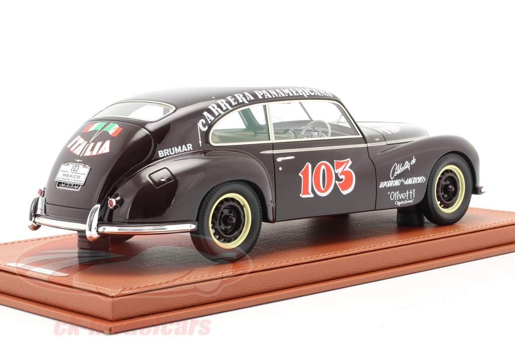 Alfa Romeo 6C 2500 Freccia D'oro #103 Carrera Panamericana 1950 mit Vitrine 1:18 BBR
