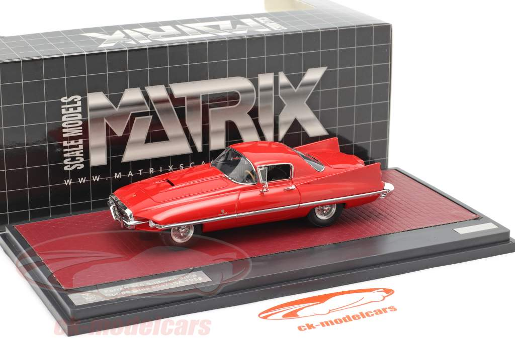 Ferrari 410 Superamerica Coupe Ghia Année de construction 1955 rouge 1:43 Matrix