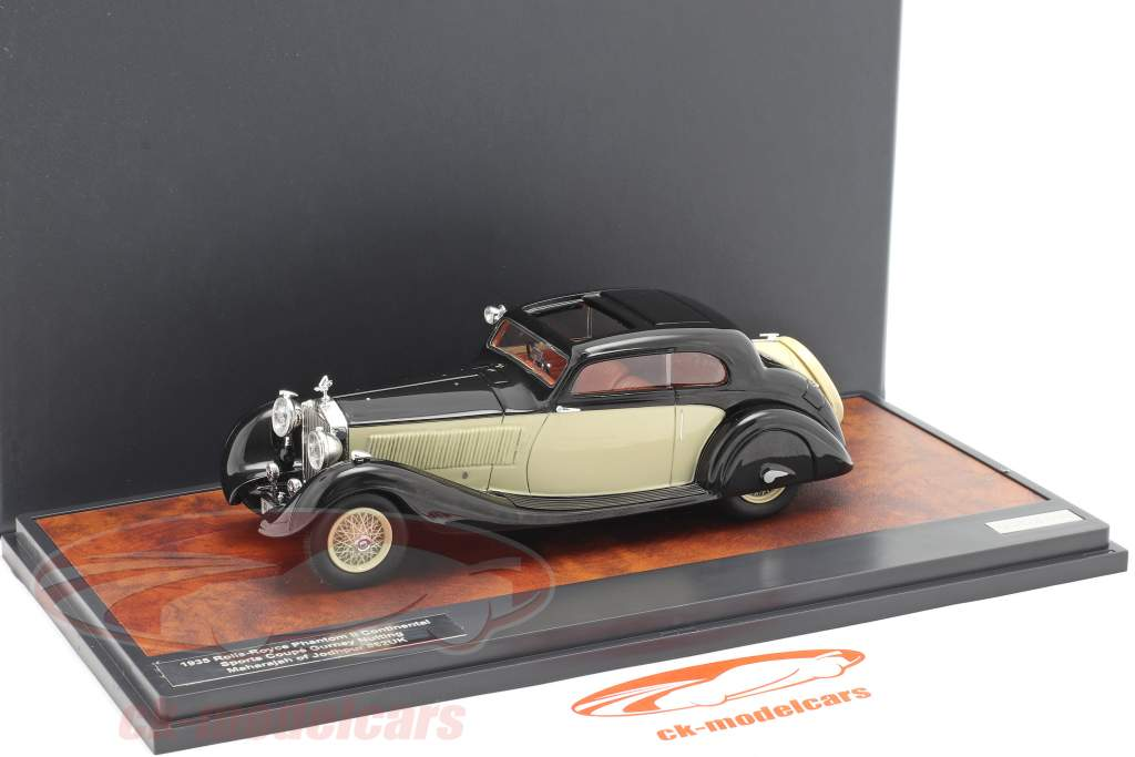 Rolls Royce Phantom II Continental Sports Coupe 1935 black / cream 1:43 Matrix