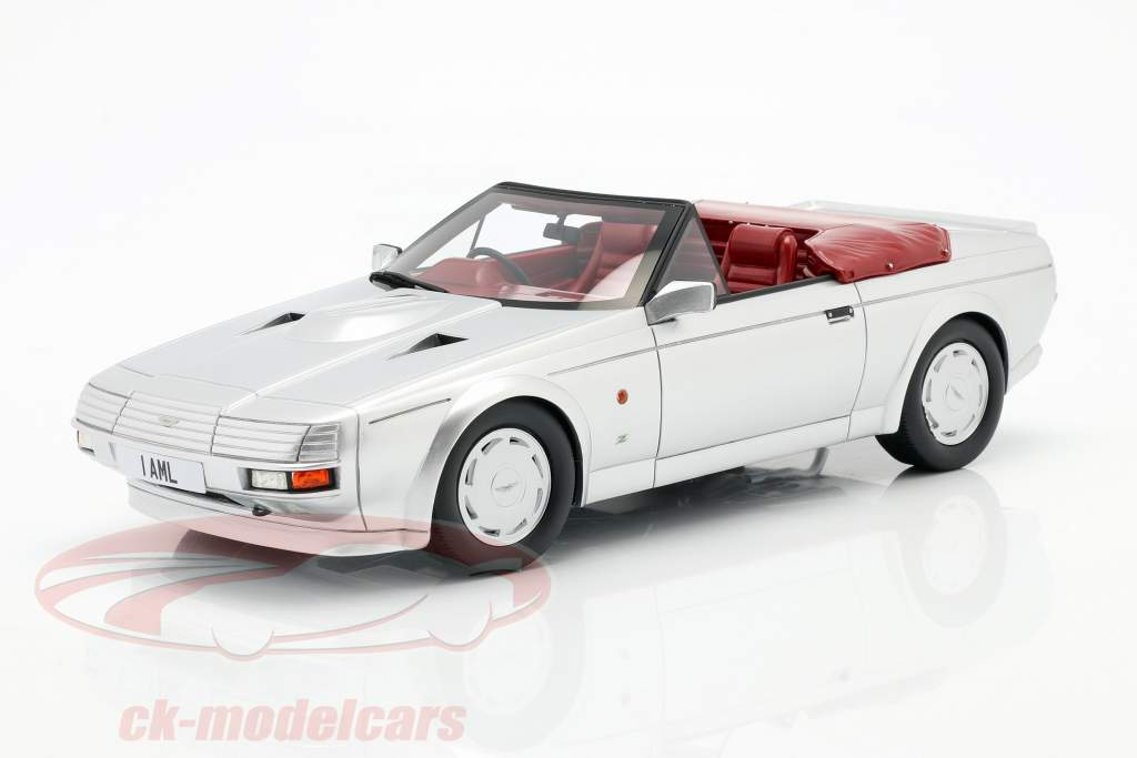 Aston Martin V8 Zagato Spyder Baujahr 1987 silber metallic 1:18 Cult Scale