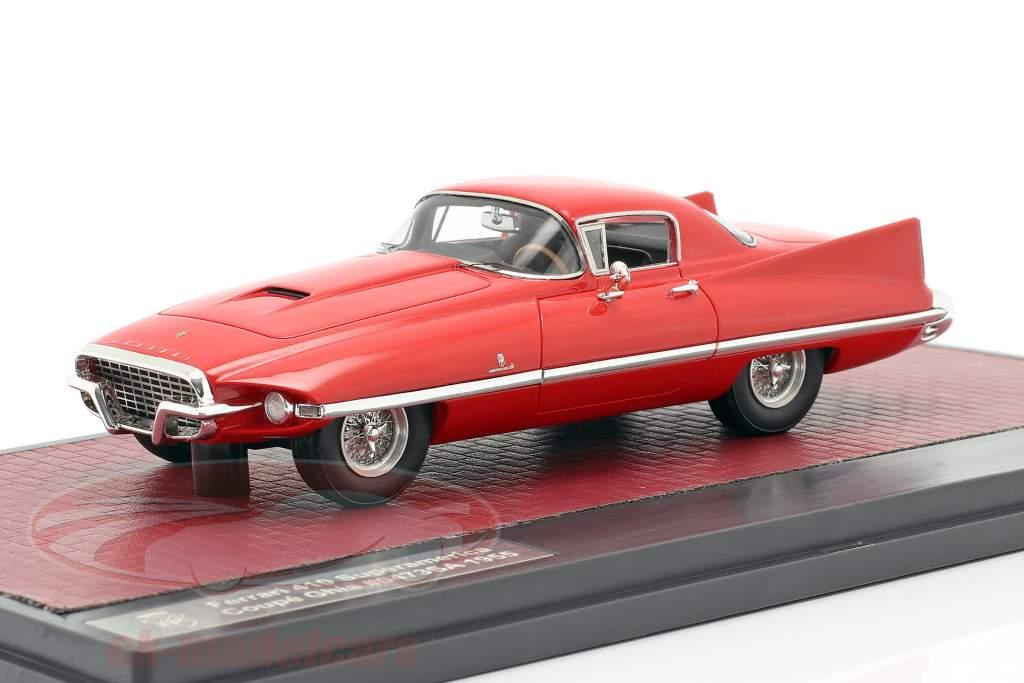 Ferrari 410 Superamerica Coupe Ghia Bouwjaar 1955 rood 1:43 Matrix