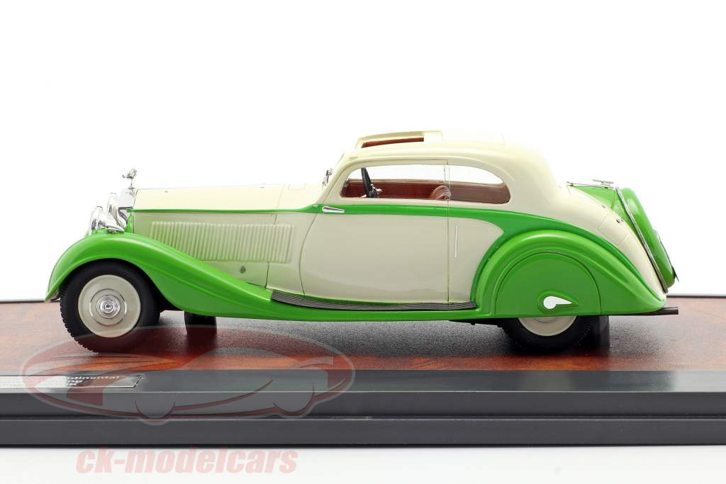Rolls Royce Phantom II Continental Sports Coupe 1935 grøn / fløde 1:43 Matrix