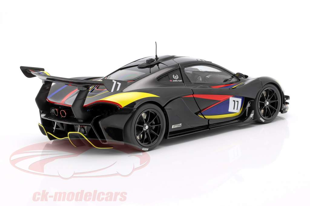 McLaren P1 GTR #11 James Hunt 40º Aniversário 1976 Preto 1:18 Almost Real
