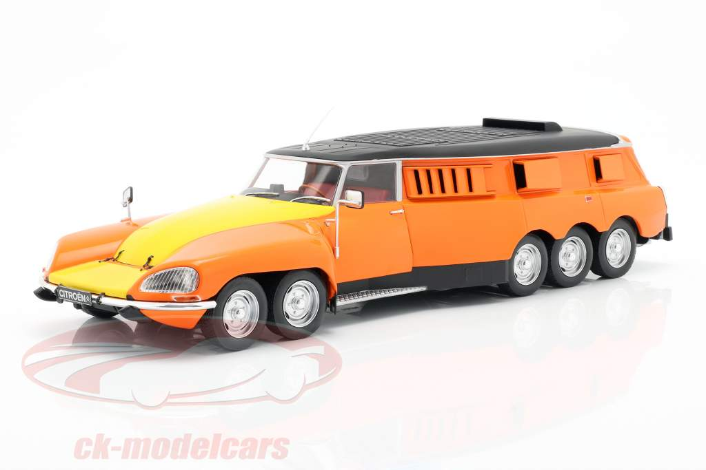 Citroen DS PLR Break Michelin Mille Pattes 1972 oranje / geel / zwart 1:18 CMR
