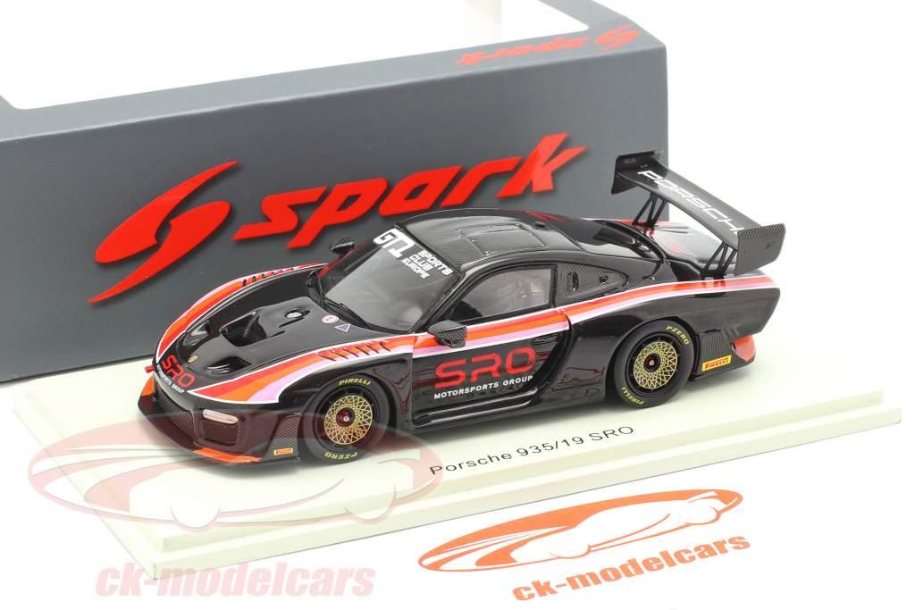 Porsche 935/19 SRO nero / rosso / arancia / rosa 1:43 Spark