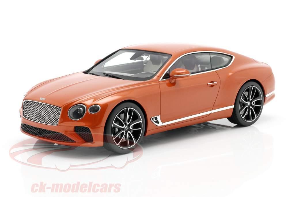 Bentley Continental GT Coupe Baujahr 2018 flammenorange 1:18 TrueScale