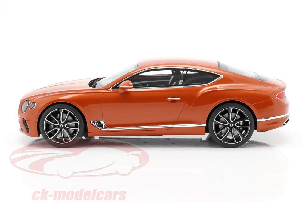 Bentley Continental GT Coupe Année de construction 2018 Orange flamme 1:18 TrueScale