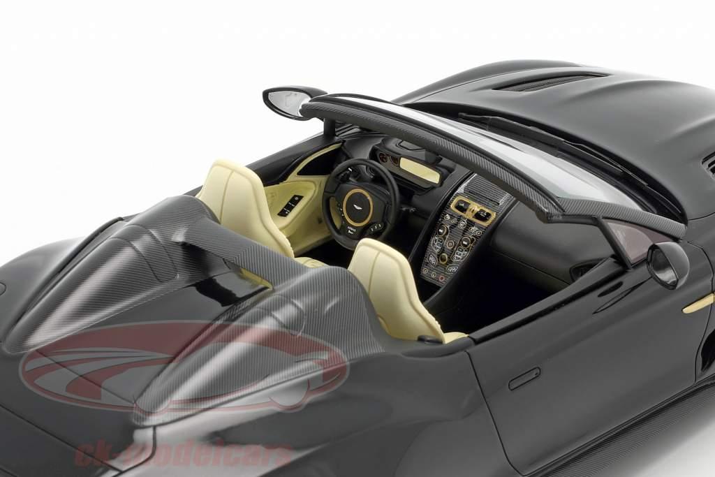 Aston Martin Vanquish Zagato Speedster 2017 glohed sort 1:18 TrueScale