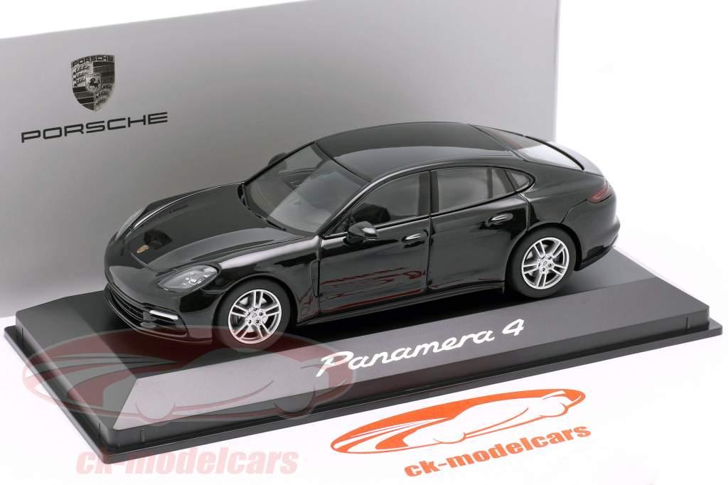 Porsche Panamera 4 (2. Gen.) Ano 2017 Preto metálico 1:43 Herpa