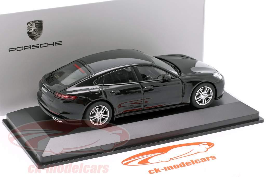 Porsche Panamera 4 (2. Gen.) Bouwjaar 2017 zwart metalen 1:43 Herpa