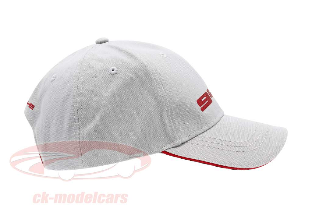 Porsche 944 Baseball-Cap grey / red