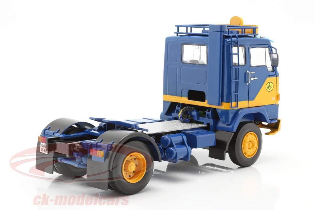 Volvo F88 Caminhão ASG Transport 1965 azul / amarelo 1:18 Road Kings