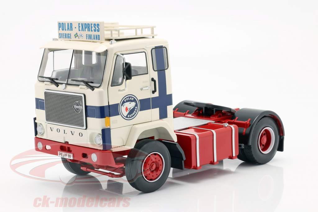 Volvo F88 Truck Polar Express 1965 white / blue / red 1:18 Road Kings
