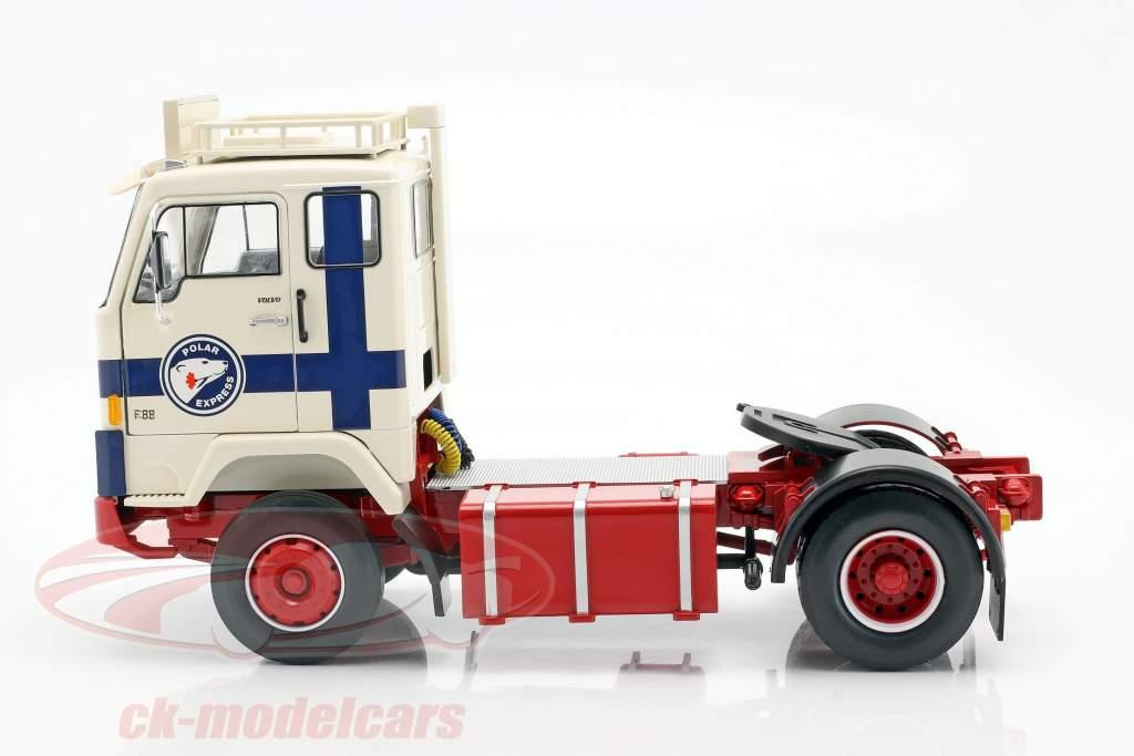 Volvo F88 un camion Polar Express 1965 blanc / bleu / rouge 1:18 Road Kings