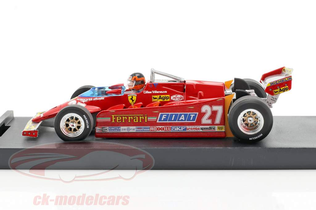 G. Villeneuve Ferrari 126CK Turbo #27 USA GP di Formula 1 1981 1:43 Brumm