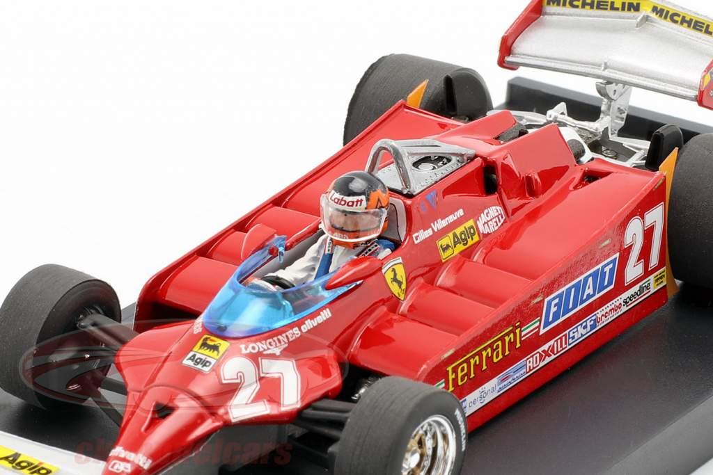 G. Villeneuve Ferrari 126CK Turbo #27 EE.UU. GP de Fórmula 1 1981 una y cuarenta y tres Brumm