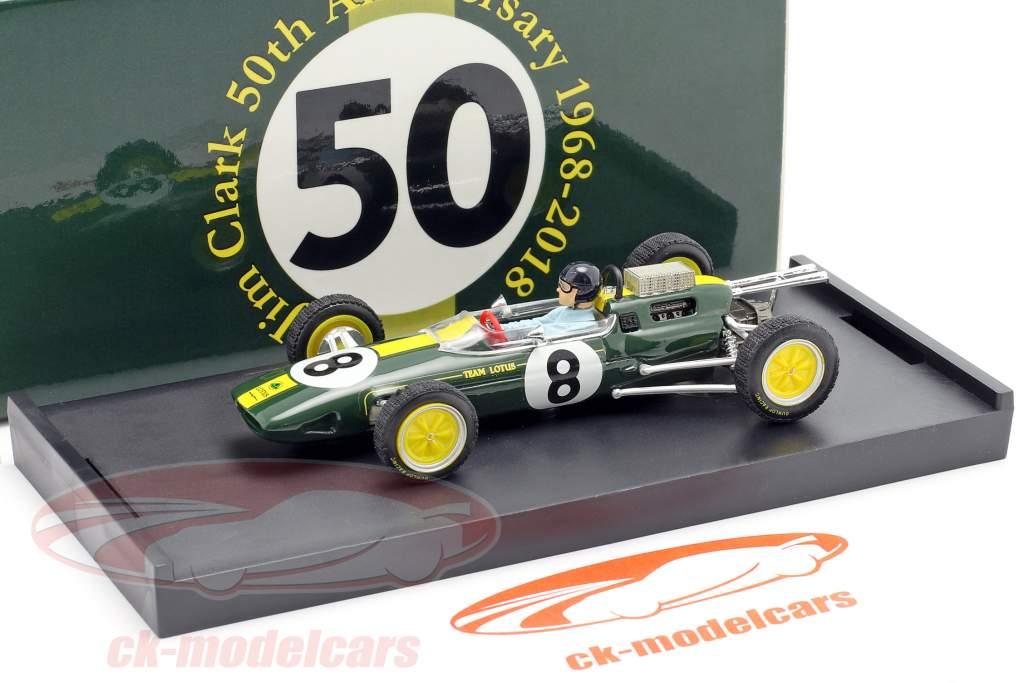 Jim Clark Lotus 25 #8 champion du monde Italie GP F1 1963 avec figure 1:43 Brumm