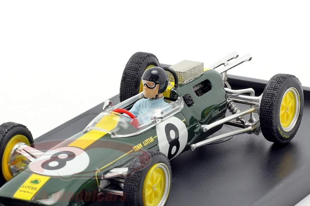 Jim Clark Lotus 25 #8 World Champion Italy GP F1 1963 with figure 1:43 Brumm