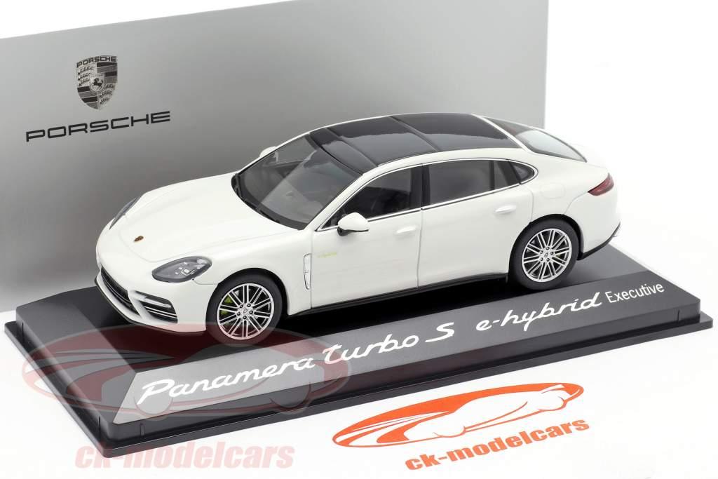 Porsche Panamera Turbo S E-Hybrid Executive G2 carrera blanco metálico 1:43 Herpa