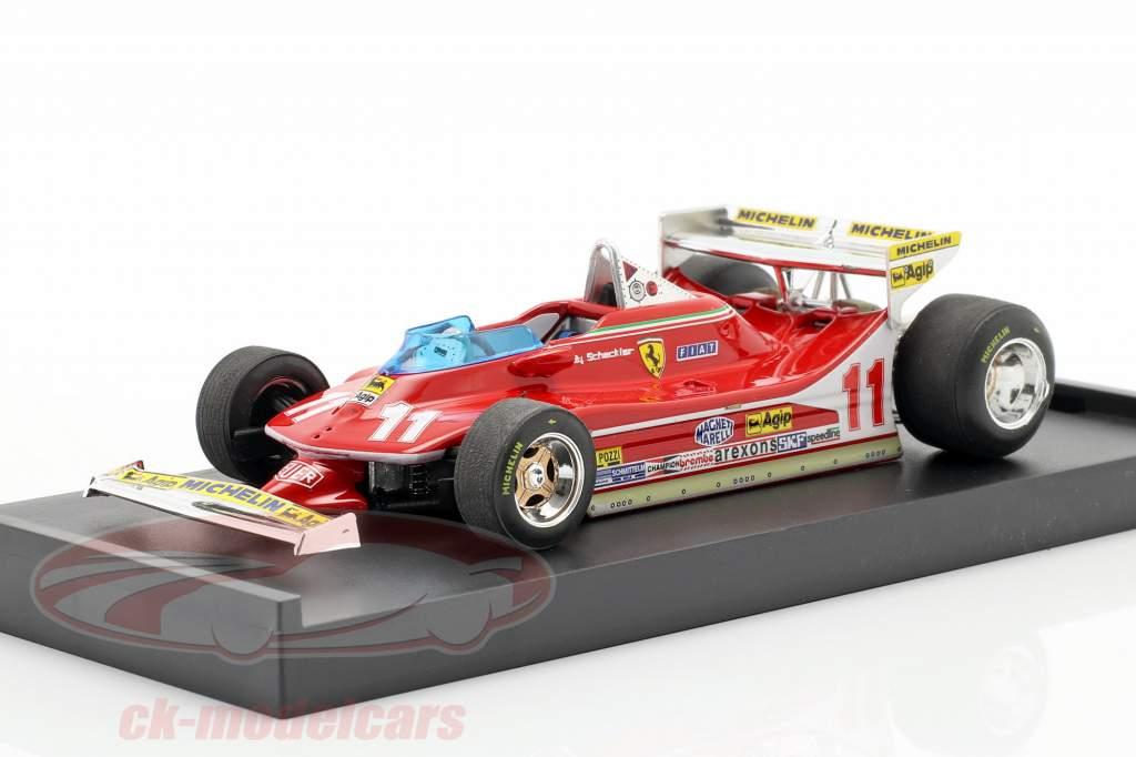 Jody Scheckter Ferrari 312 T4 #11 Campeón del Mundo GP Mónaco Fórmula 1 1979 1:43 Brumm