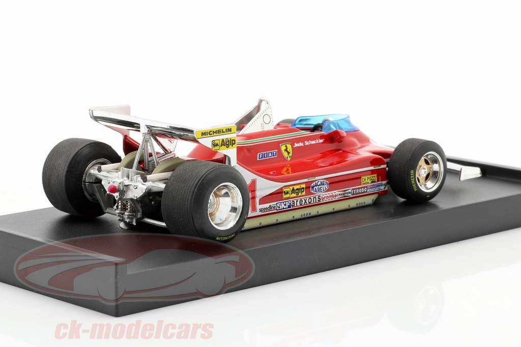Jody Scheckter Ferrari 312 T4 #11 Verdensmester GP Monaco Formel 1 1979 1:43 Brumm