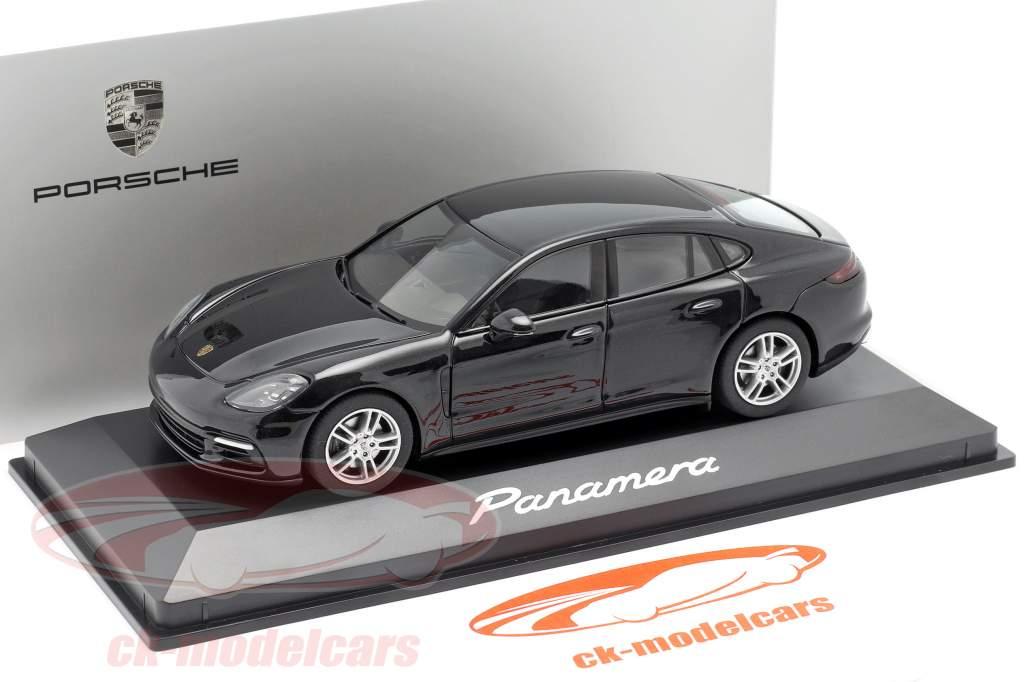 Porsche Panamera (2. Gen.) Bouwjaar 2017 zwart metalen 1:43 Herpa