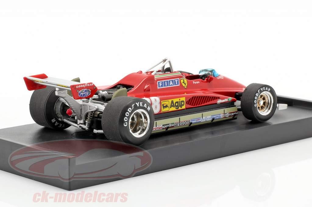 Didier Pironi Ferrari 126C2 #28 Vencedor San Marino GP Fórmula 1 1982 1:43 Brumm