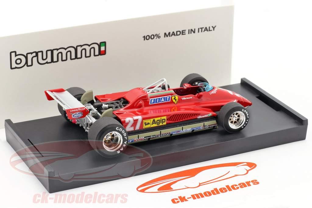 Gilles Villeneuve Ferrari 126C2 #27 Segundo San Marino GP Fórmula 1 1982 1:43 Brumm