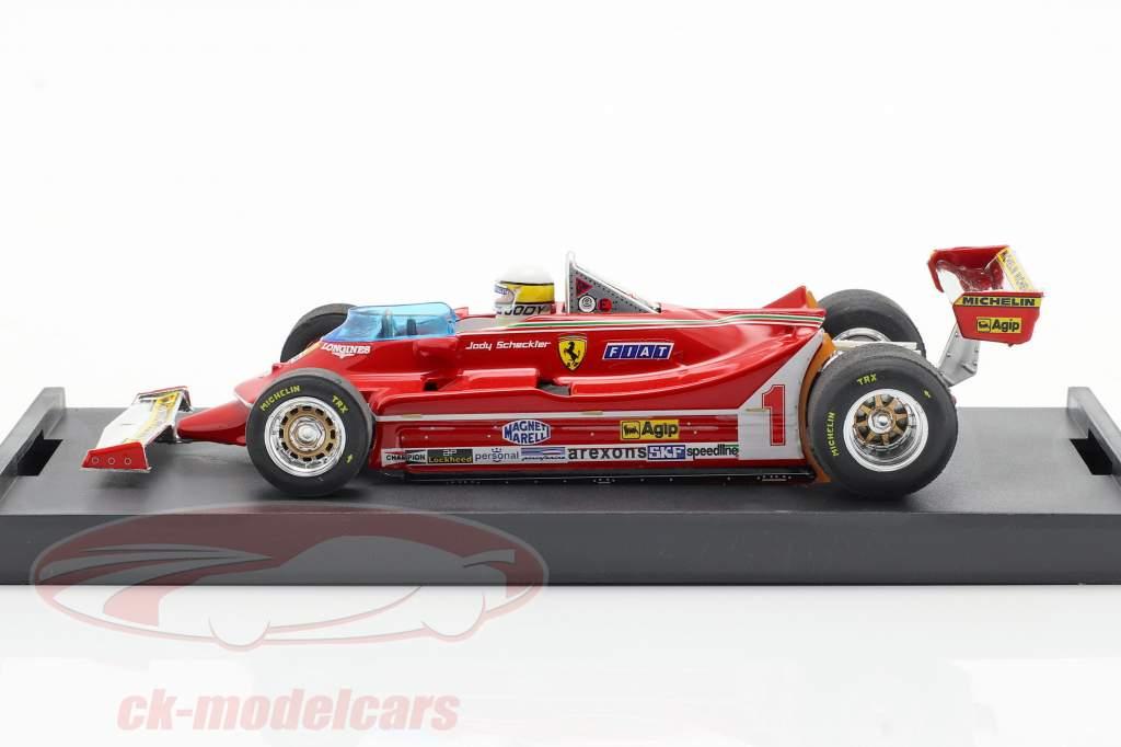 Jody Scheckter Ferrari 312T5 #1 Argentinië GP Formule 1 1980 met Fahrerfigur 1:43 Brumm