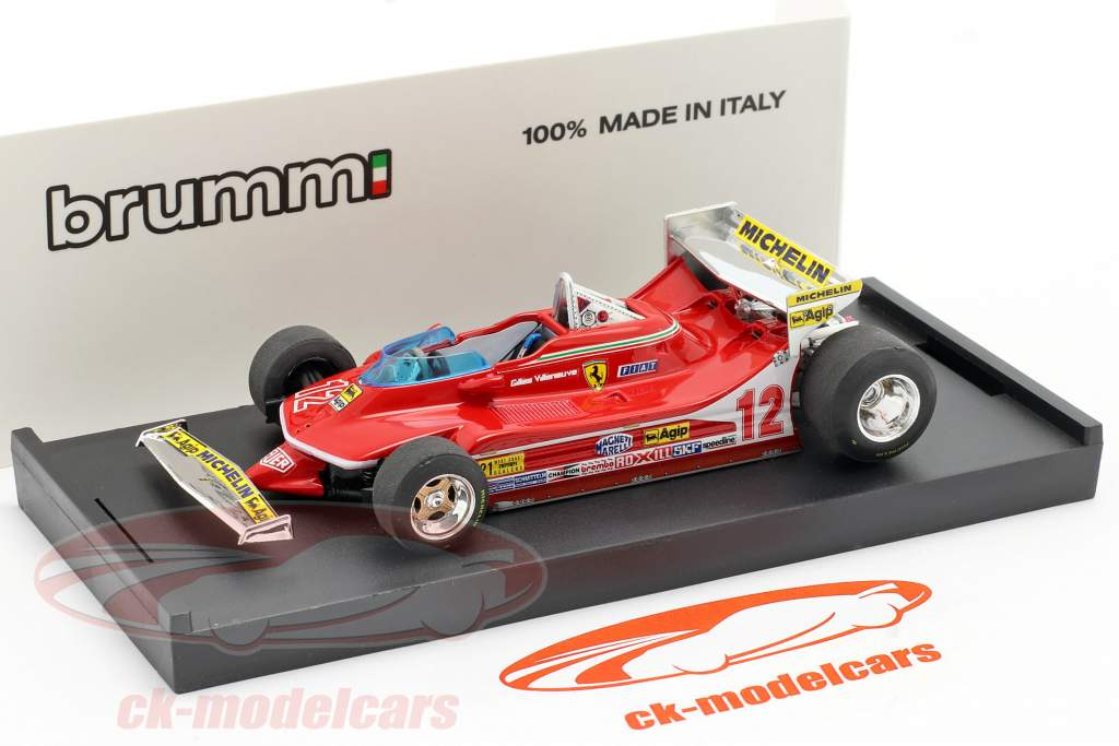 G. Villeneuve Ferrari 312 T4 Prueba de coches #12 Ganador GP EE.UU. West F1 1979 1:43 Brumm