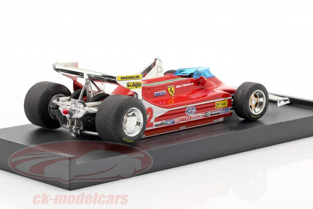 G. Villeneuve Ferrari 312 T4 Test Bil #12 Vinder GP USA West F1 1979 1:43 Brumm