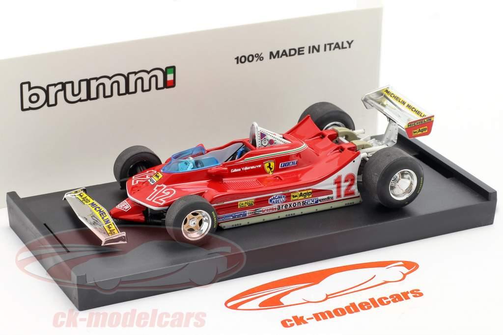 G. Villeneuve Ferrari 312 T4 #12 2. Platz GP Frankreich Formel 1 1979 1:43 Brumm