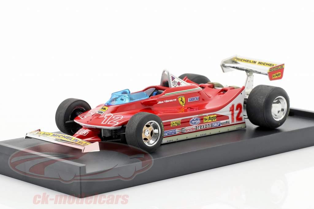 G. Villeneuve Ferrari 312 T4 #12 2ème GP France Formule 1 1979 1:43 Brumm