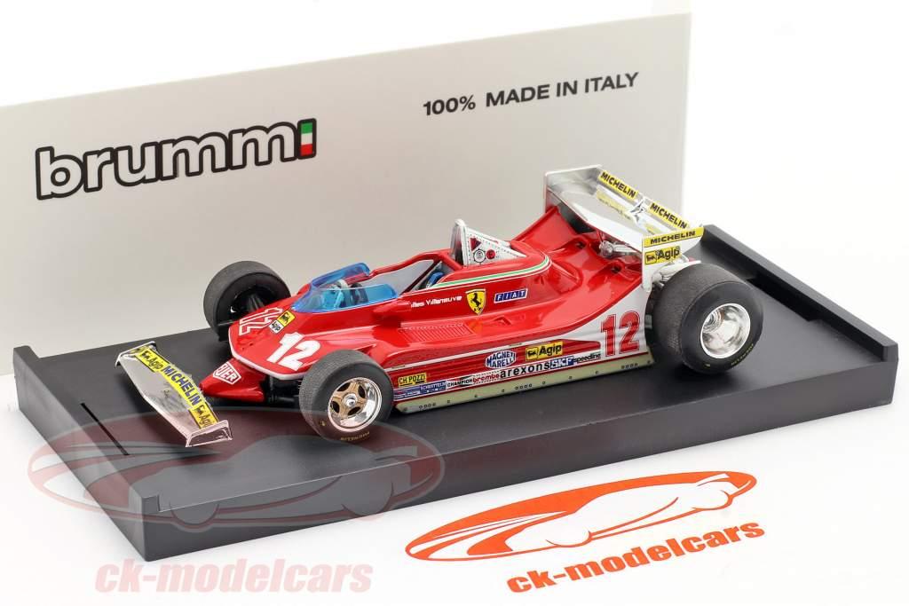 Gilles Villeneuve Ferrari 312 T4 #12 GP Monaco Formel 1 1979 1:43 Brumm