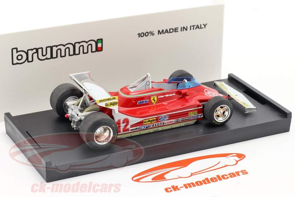 Ferrari 312 T4 #12 GP Monaco Formula 1 1979 Gilles Villeneuve 1:43 Brumm
