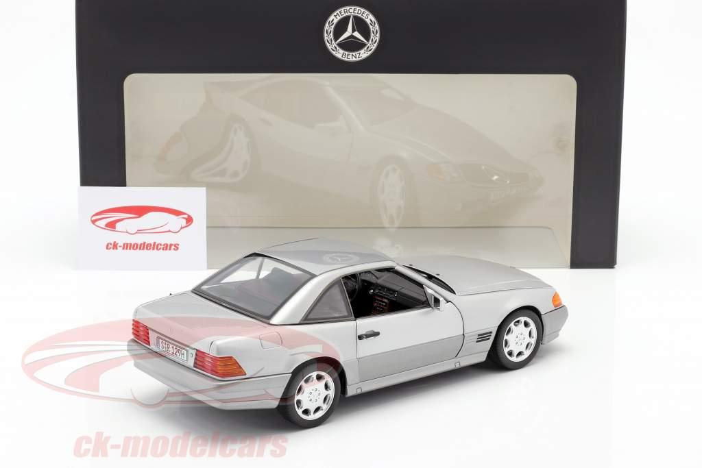 Mercedes-Benz 500 SL (R129) Coche de turismo 1989-1995 brillante plata metálico 1:18 Norev