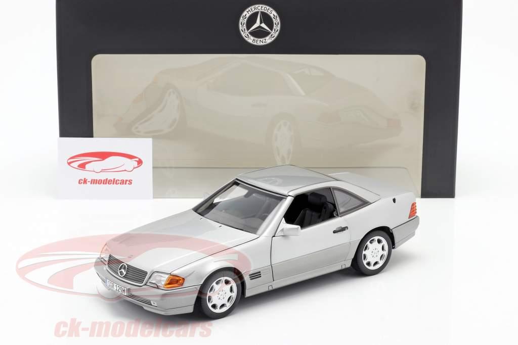 Mercedes-Benz 500 SL (R129) Roadster 1989-1995 brilliant silver metallic 1:18 Norev